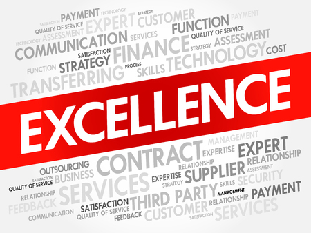 EXCELLENCE word cloud collage, business concept background Illustration