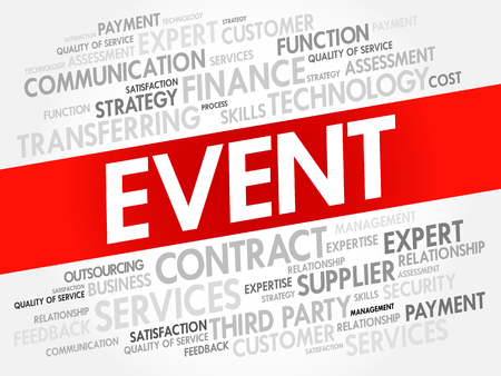 EVENT word cloud collage, business concept background