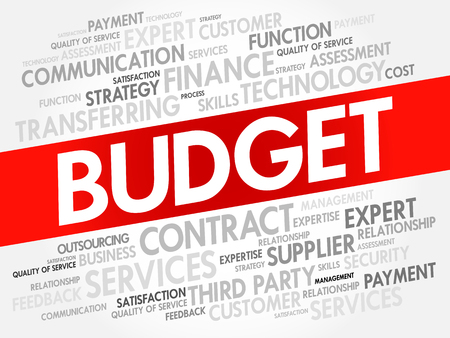 BUDGET word cloud collage, business concept background 일러스트