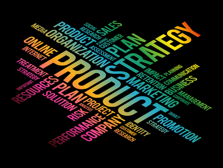 PRODUCT word cloud collage, business concept background Vetores
