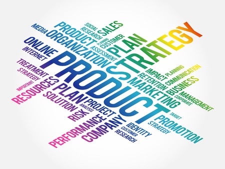 PRODUCT word cloud collage, business concept background Ilustração Vetorial