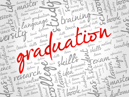 GRADUATION word cloud collage, education concept background