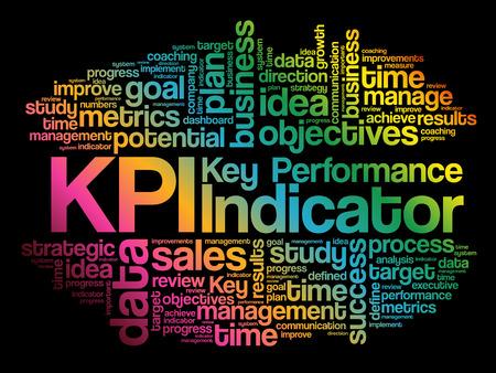 KPI - Key Performance Indicator word cloud collage, fond de concept d'entreprise