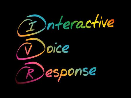 IVR - Interactive Voice Response, acronym business concept Ilustrace