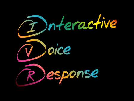 IVR - Interactive Voice Response, acronym business concept Illustration