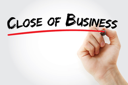 COB – Close of Business acronym, concept background