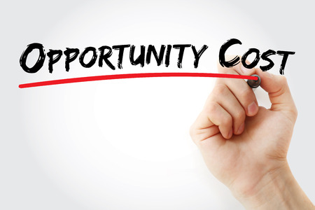 OC - Opportunity Cost acronym, business concept background