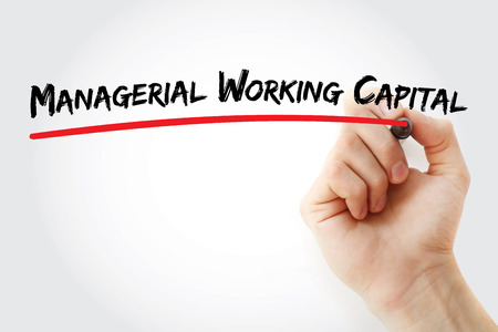 MWC - Managerial Working Capital acronym, business concept background 版權商用圖片