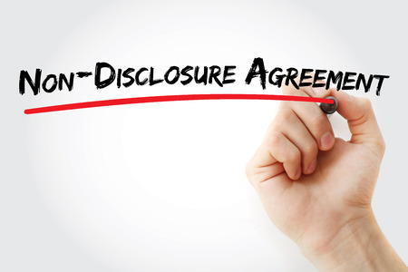 NDA - Non-Disclosure Agreement acronym, business concept background Reklamní fotografie