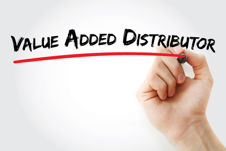VAD - Value Added Distributor acronym, business concept background 免版税图像