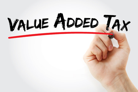 Value Added Tax, acronym business concept background