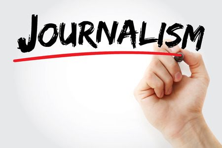 Hand writing Journalism with marker, concept background