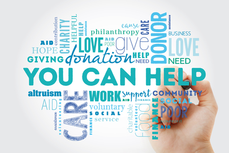 You can help word cloud collage with marker, business concept background