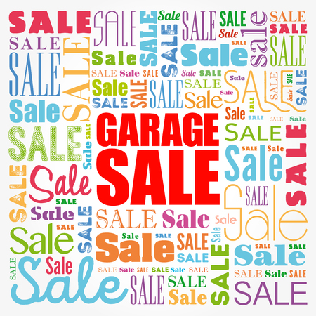 GARAGE SALE word cloud collage, business concept background