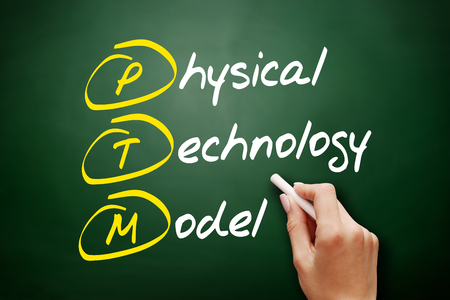 PTM - Physical Technology Model, acronym concept on blackboard - Image