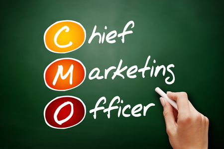 CMO - Chief Marketing Officer, acronym business concept background