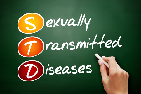 STD - Sexually Transmitted Diseases, acronym health concept on blackboard