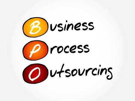 BPO - Business Process Outsourcing, acronym background Ilustracja