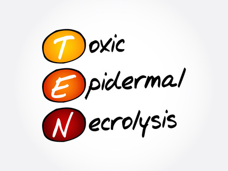 TEN - Toxic Epidermal Necrolysis, acronym health concept background Ilustracja
