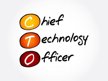CTO - Chief Technology Officer, acronym concept background