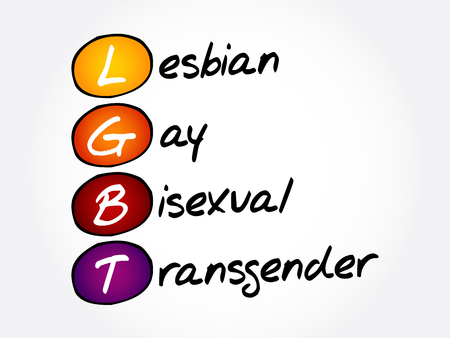 LGBT - lesbian, gay, bisexual, transgender, acronym concept background Vector Illustration