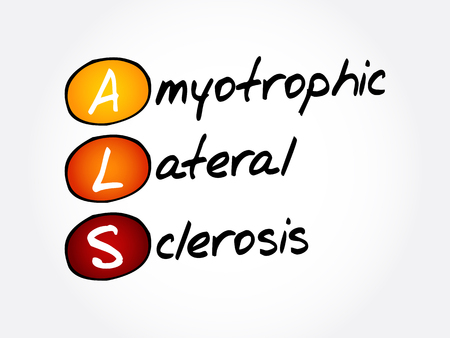 ALS - Amyotrophic Lateral Sclerosis, acronym health concept background
