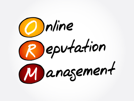 ORM - Online Reputation Management, acronym business concept background Vectores