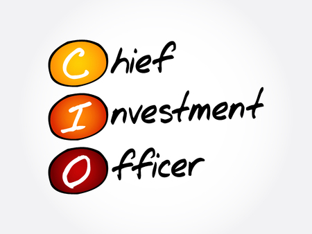 CIO - Chief Investment Officer, acronym business concept background Ilustração