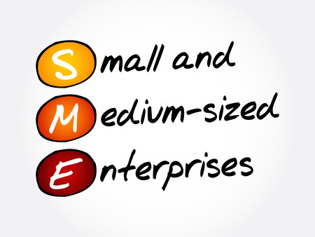 SME - Small And Medium-sized Enterprises, acronym business concept background