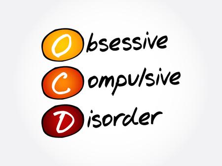 TOC - trouble obsessionnel compulsif, arrière-plan du concept de santé acronyme