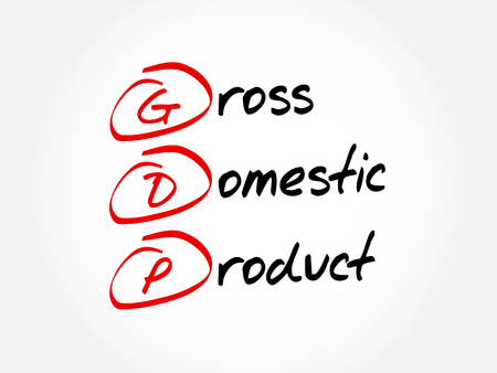 GDP - Gross domestic product acronym, business concept background
