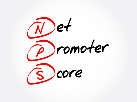 NPS - Net Promoter Score acronym, business concept background
