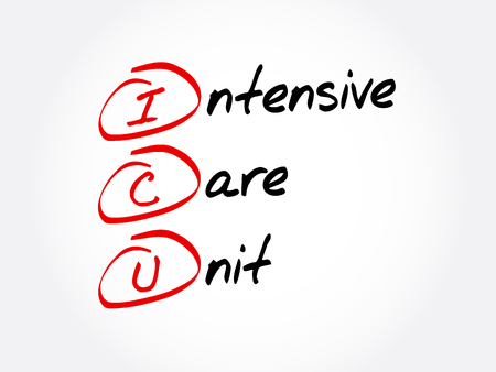 ICU - Intensive Care Unit acronym Illustration