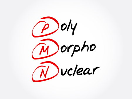 PMN - Poly Morpho Nuclear acronym, concept background
