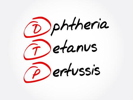 DTP - Diphtheria Tetanus Pertussis acronym, concept background
