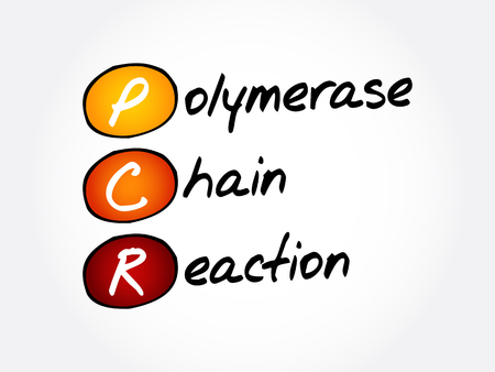 PCR - Polymerase Chain Reaction, acronym health concept background