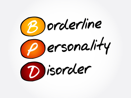 BPD - Borderline Personality Disorder, acronym health concept background Illustration