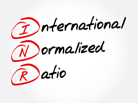 INR - International Normalized Ratio acronym, concept background