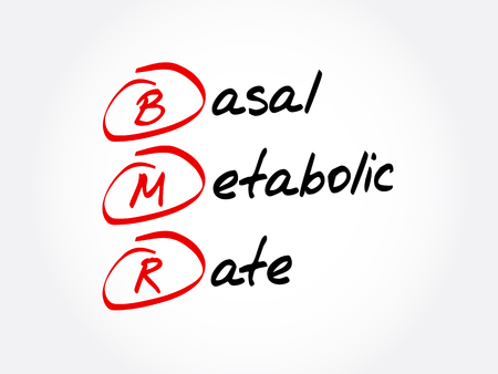 BMR - Basal Metabolic Rate acronym, concept background Stock fotó - 114088984
