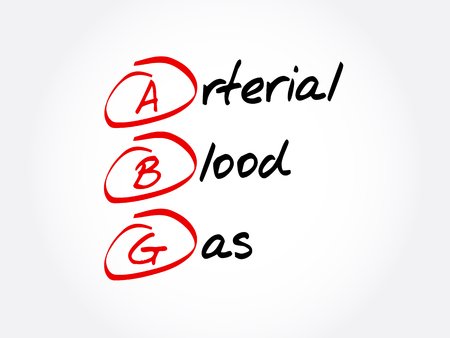ABG - Arterial Blood Gas acronym, concept background