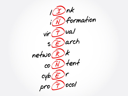 INTERNET - Link, Information, Virtual, Search, Network, Content, Cyber, Protocol acronym, business concept background