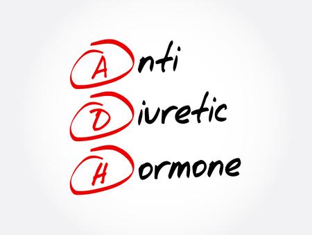 ADH - Antidiuretic Hormone acronym, concept background