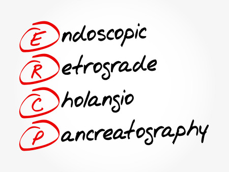 ERCP - Endoscopic Retrograde Cholangio Pancreatography acronym, concept background