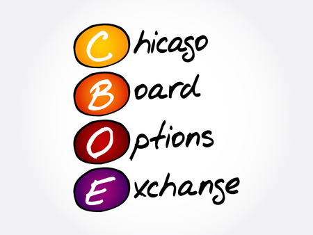 CBOE – Chicago Board Options Exchange acronym, business concept background
