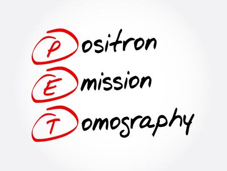 PET - Positron Emission Tomography acronym, concept background
