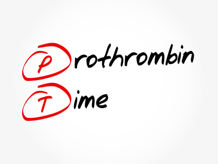 PT - Prothrombin Time acronym, concept background