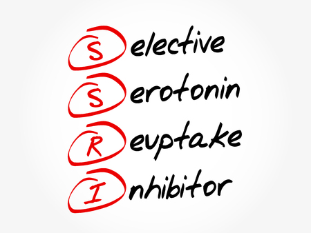 SSRI - Selective Serotonin Reuptake Inhibitor acronym, concept background