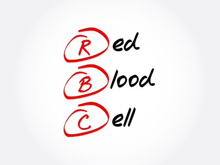 RBC - Red Blood Cell acronym, concept background