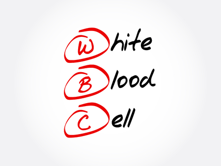 WBC - White Blood Cell acronym, concept background