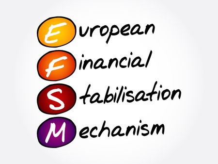 EFSM - European Financial Stabilisation Mechanism acronym, business concept background Ilustração